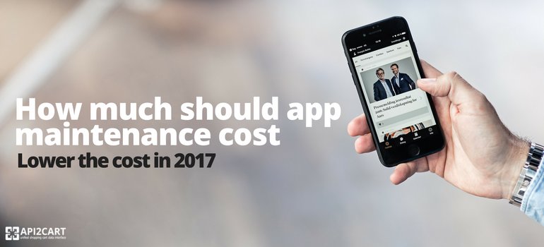 How much should app maintenance cost - Lower the cost in 2017