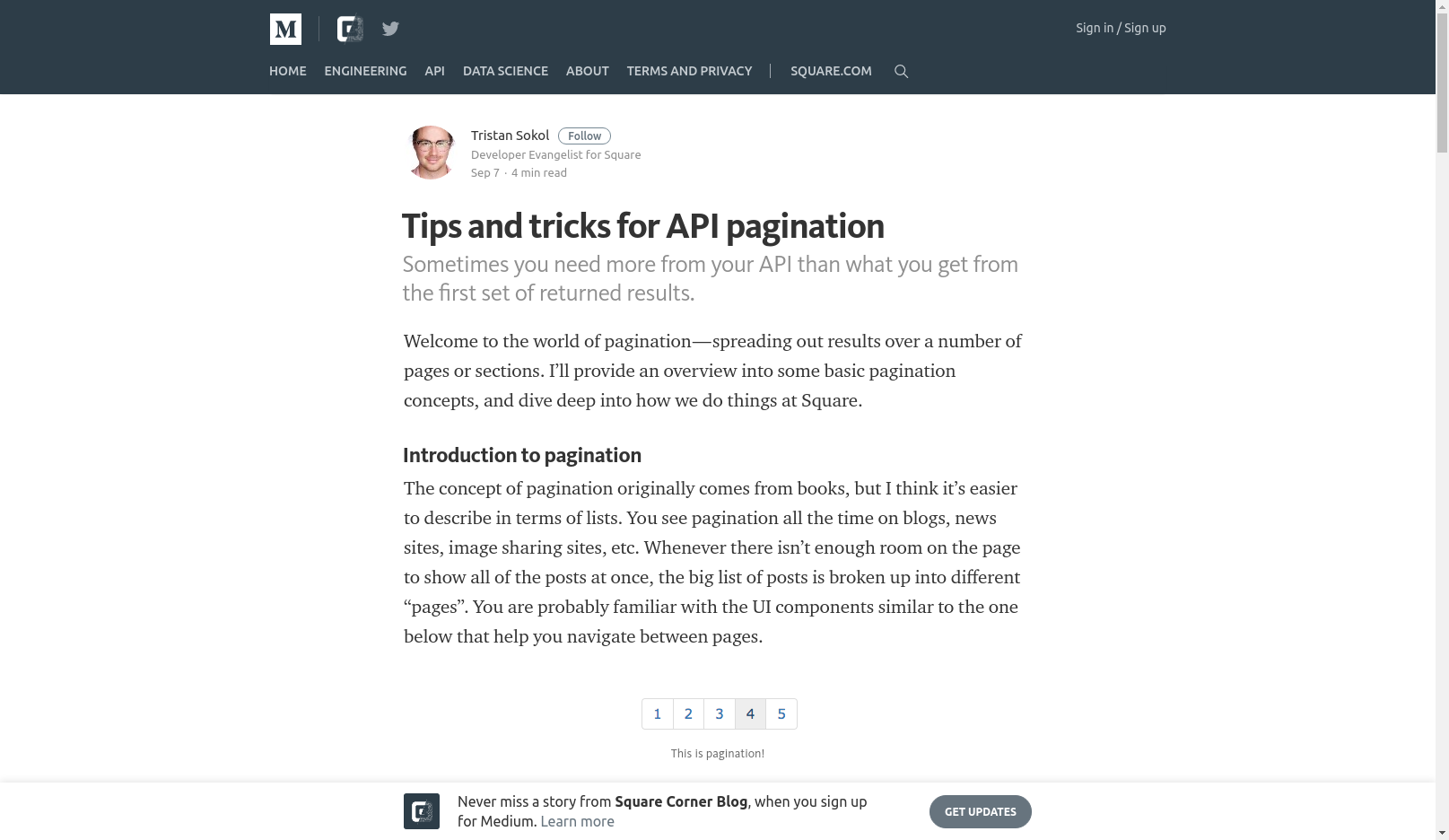 Tips and tricks for API pagination
