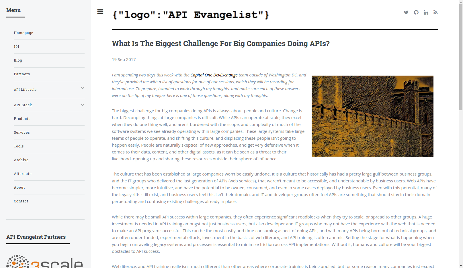 What Is The Biggest Challenge For Big Companies Doing APIs?